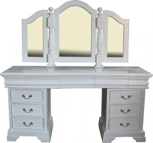 Sleigh Dressing Table and Mirror